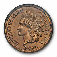 1864 1C Indian Head Cent NGC MS 64 Uncirculated CAC Approved Copper Nickel
