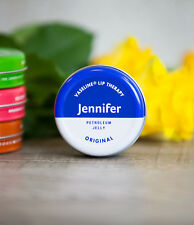 6 x Personalised Vaseline Lip Therapy Tin - choice of colours/flavour