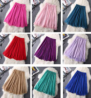 NEW Full Circle Chiffon Skirt Below Knee Skirt Size 4 6 8 10 12 14 16 18 20 22