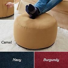 CHIC INFLATABLE POUF OTTOMAN FOOTSTOOL - NAVY