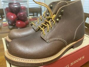 Red Wing 8015 Blacksmith Brown Spitfire USA Men's 9D Leather Boots First Run NIB