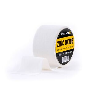 Zinc Oxide Tape - 4 Sizes - White Medical Clinical Tape, Athletic Strapping