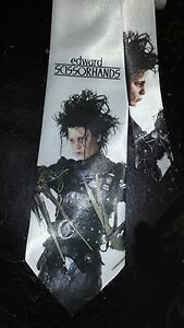 L@@K! Edward Scissorhands Satin Necktie - Johnny Depp Winona Ryder