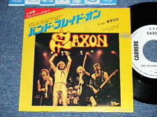 """SAXON  Japan 1981 White Label PROMO NM 7""""45 AND THE BANDS PLAYED ON"""