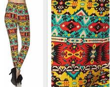 Fun Color Leggings Plus & Curvy One Size fits 12-22/24w Super Soft Feel
