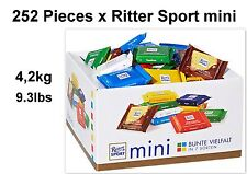 252 x Ritter Sport Minis - 4,2kg / 9.3bs - (ideal for resellers - or private)