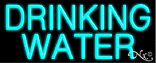Brand New Drinking Water 32x13 Real Neon Sign Withcustom Options 10051