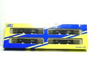 AMERICAN Z LINE Z SCALE 2420 WAFFLE GONDOLA FOUR CAR SET SCL AZL902491-1