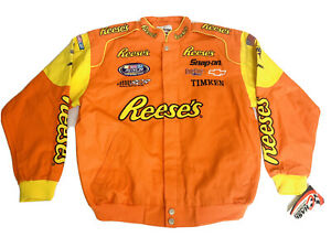 Kevin Harvick #21 Reese's NASCAR Racing Chase Authentic Twill Jacket XL NWT