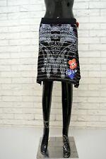 Gonna DESIGUAL Taglia Size XS Women skirt Minigonna Corta Donna Jupe Nero Rock