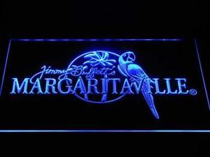 Jimmy Buffett's Margaritaville LED Neon Sign (Blue)