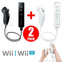 Built-in Motion Plus Remote and Nunchuck Controller Set For Wii / Wii U Console