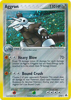 Aggron Holo Rare Pokemon Card EX-Legend Maker 2/92