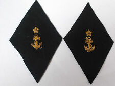 pair of vintage  navy collar insignia cloth  patches