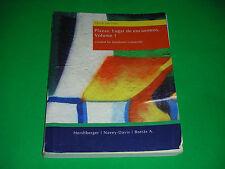Plazas: Lugar de encuentros, Volume 1 Third Edition Kutztown University