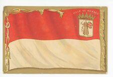 Monaco Drapeau FLAG Antique Monte Carlo CPA Restaurant Advertising 1910s