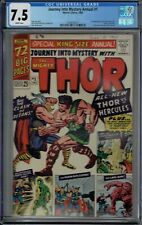 CGC 7.5 JOURNEY INTO MYSTERY ANNUAL #1 WHITE PAGES 1ST HERCULES AND ZEUS THOR AP