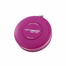 Hoechstmass Pocket Roller Tape Measure ROLLFIX 150 cm/60 inches, Fuchsia colour