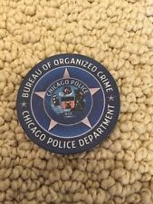 Official Chicago Police Department Bureau of Organized Crime Challenge chip/coin