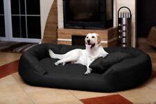 Corbeille/panier/lit noir en polyester pour chien