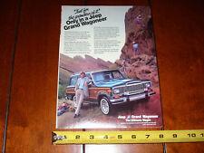 JEEP GRAND WAGONEER - ORIGINAL 1984 AD