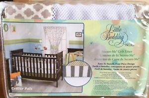 Little Bedding by NoJo Critter Pals Animal Print Secure-Me Mesh Crib Liner - Tan