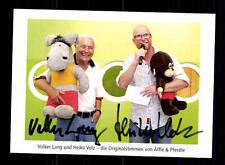 Volker Lang und Heiko Volz Autogrammkarte Original Signiert # BC 67012