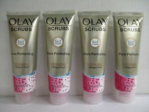 4 OLAY SCRUBS VITAMIN C + DRAGON FRUIT SCRUB 4.2 FL OZ EA. EXP: 5/22+ GW 2587