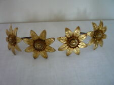 4 ANTIQUE FRENCH LARGE GILT PICTURE COMPLETE HOOK NAIL & COVERS CACHE CLOUS