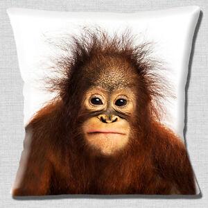 Cute Baby Orangutan Cushion Cover 16x16 inch 40cm Wild Zoo Animal Photo Print