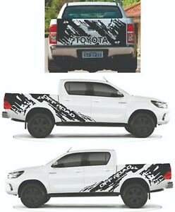 Decal Graphic Side Stripe and Tailgate Kit for Toyota Hilux ( Offroad )