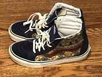 Vans X Liberty  Sk8-Hi Royal Blue Floral Pattern Women 7.5 Men 6 Skateboard Shoe