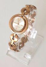 Esprit Damen Uhr Ilary rosé gold weiß Edelstahl Gehäuse schwenkbar ES108202003