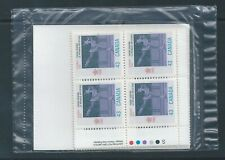 Canada #1197 1988 Olympic Winter Games Post Office Sealed Set Plate Block MNH