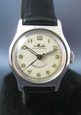 Vintage Mido Multifort Stainless Steel Super Automatic Mens Watch  17J 817 1940s