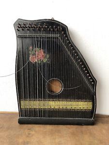 Antica zitar arpa cetra a 49 corde zithar prima metà del XX secolo