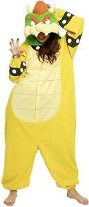 SAZAC Super Mario Brothers Fleece Costume Bowser Halloween Free size Cosplay