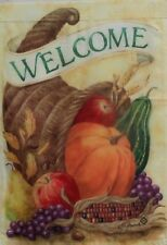 """Welcome Cornucopia Standard Flag by Toland, 28"""" x 40"""", Thanksgiving #1424"""