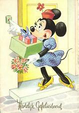 PC DISNEY, MINNIE MOUSE, WITH PRESENTS, Vintage Postcard (b28660)
