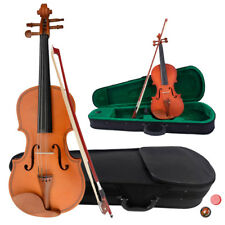1/8 Natural Acoustic Violin +Case+Bow+Rosin+Shoulder Rest+Tuner Kids Xmas Gifts