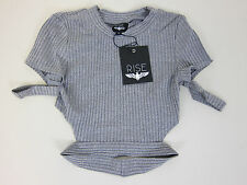 Revolve Rise Rib Perfection Crop Top - Womens Small - Grey - NWT