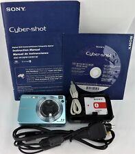Sony CyberShot DSC-W120 7.2 MP Carl Zeiss Lens Blue Digital Camera