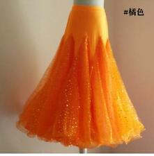 Paillette Tango Waltz Modern Dance Ballroom Long Dance Skirt Dancing 8 Colors