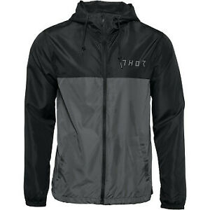 Thor 2022 Division Windbreaker Black/Charcoal All Sizes