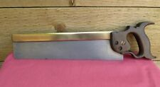 "Antique Split Nut Spear & Jackson 14"" Brass Backed Tenon Saw 13 TPi Old Tool"