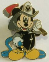 Mickey Mouse Firefighter Disney FDNY NYC Hero hose axe  pin  N