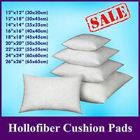 """HollowFiber Cushion Pad Insert Filler Inner 12"""" 14"""" 16"""" 18 20 22 24"""" 26"""" 28"""" 30"""""""