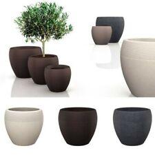 """Scheurich - Planter 282 """" Lineo """" round Flower Pot Winter Resistant Flowerpot"""