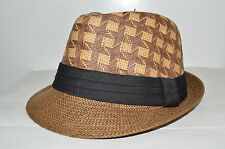 Men's Cuban Style Fedora Trilby Hat Panama Short Brim Cap Sunhat Brown New Star