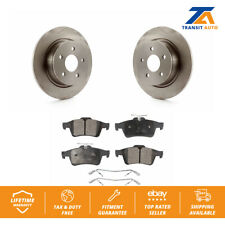 Rear Disc Rotors & Ceramic Brake Pads Fits Ford Escape C-Max TRANSIT Connect